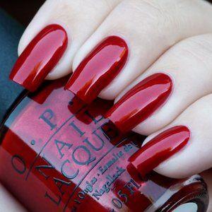 OPI ~ NEW Danke Shiny Red .5 oz
